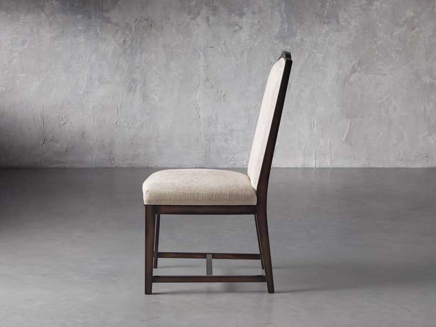 Isabella  Dining Side Chair in Taupe and Noceto, slide 4 of 8