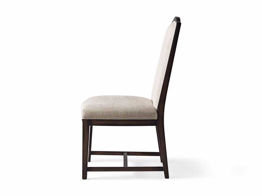 Isabella  Dining Side Chair in Taupe and Noceto, slide 8 of 8