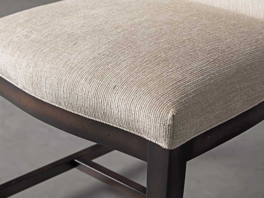 Isabella  Dining Side Chair in Taupe and Noceto, slide 6 of 8