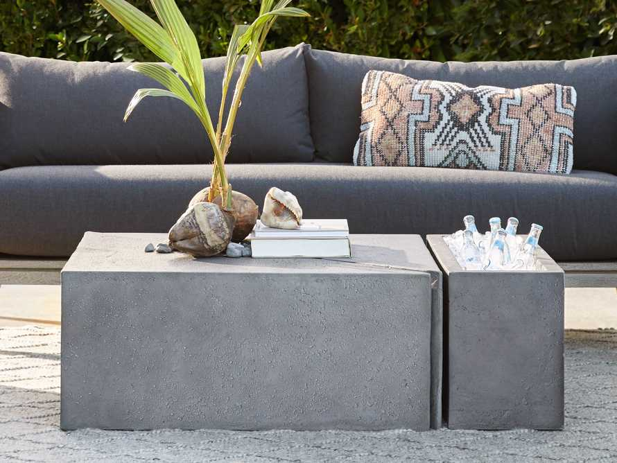 Pacifica Outdoor Two Piece Coffee Table, slide 4 of 5