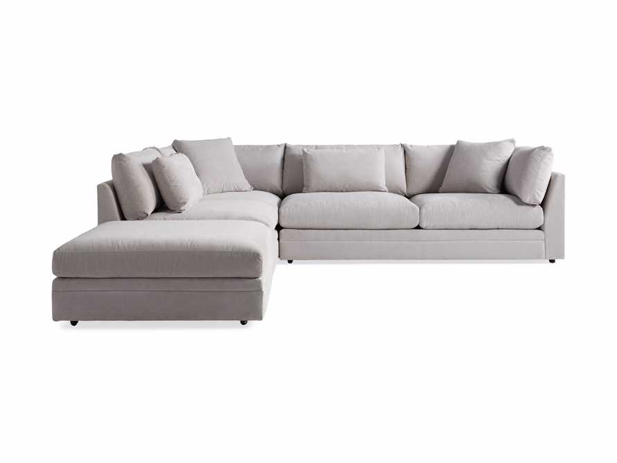 "Pavo Upholstered 132"" Three Piece Right Arm Sectional"