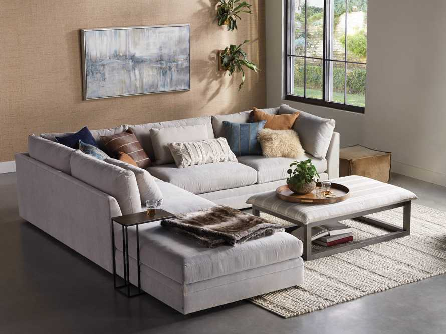 "Pavo Upholstered 132"" Three Piece Right Arm Sectional, slide 7 of 10"