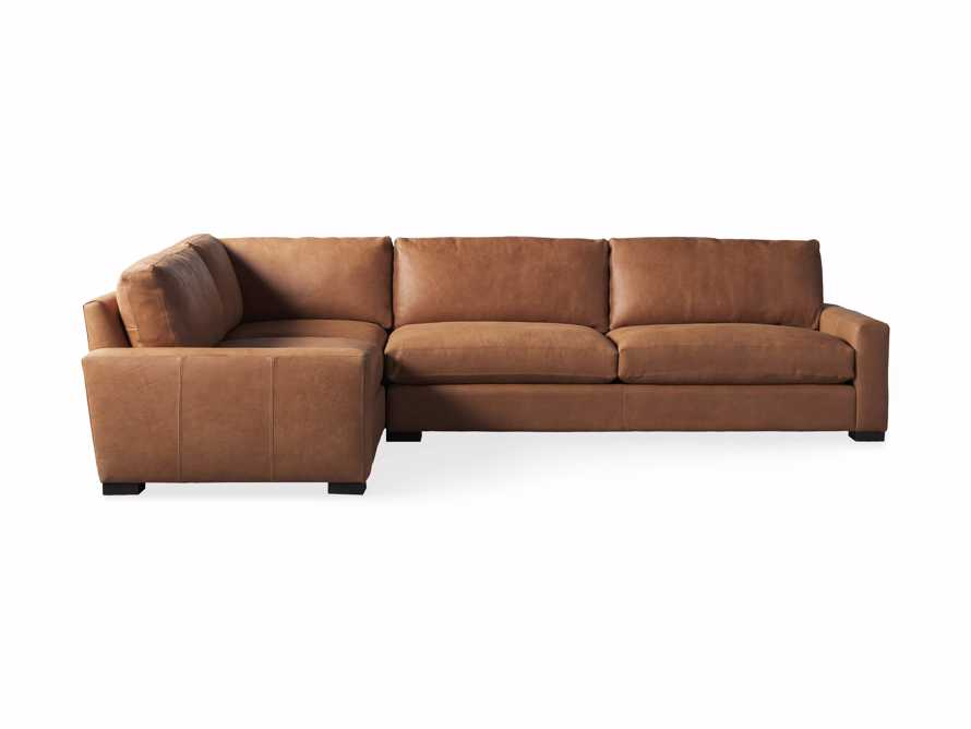 "Remington Deep Springs Leather 138"" Two Piece Sectional, slide 7 of 8"