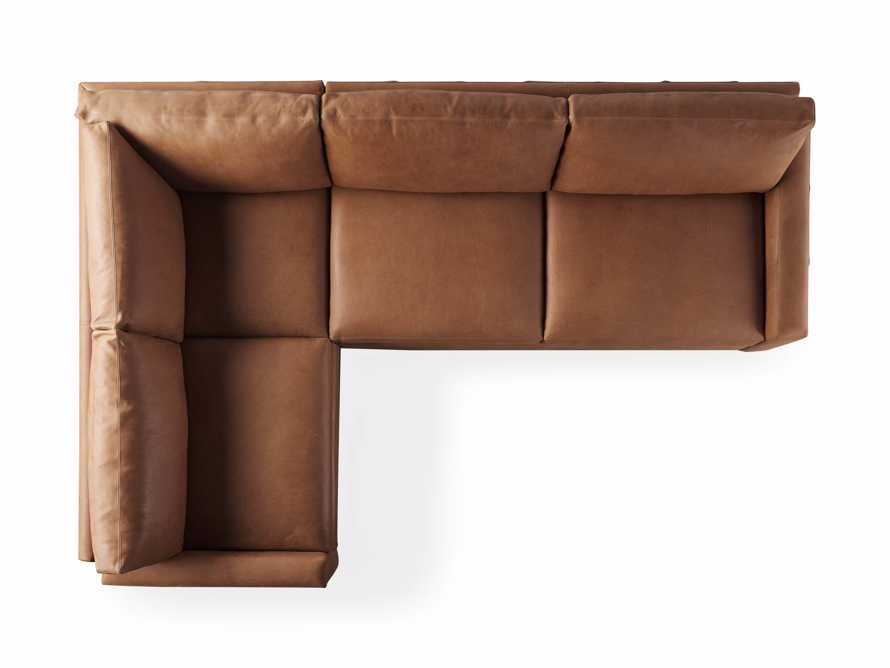 "Remington Deep Springs Leather 138"" Two Piece Sectional, slide 8 of 8"