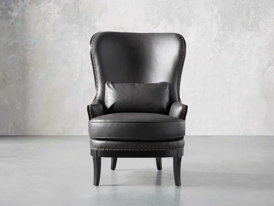 "Portsmouth Leather 32"" Chair, slide 2 of 12"