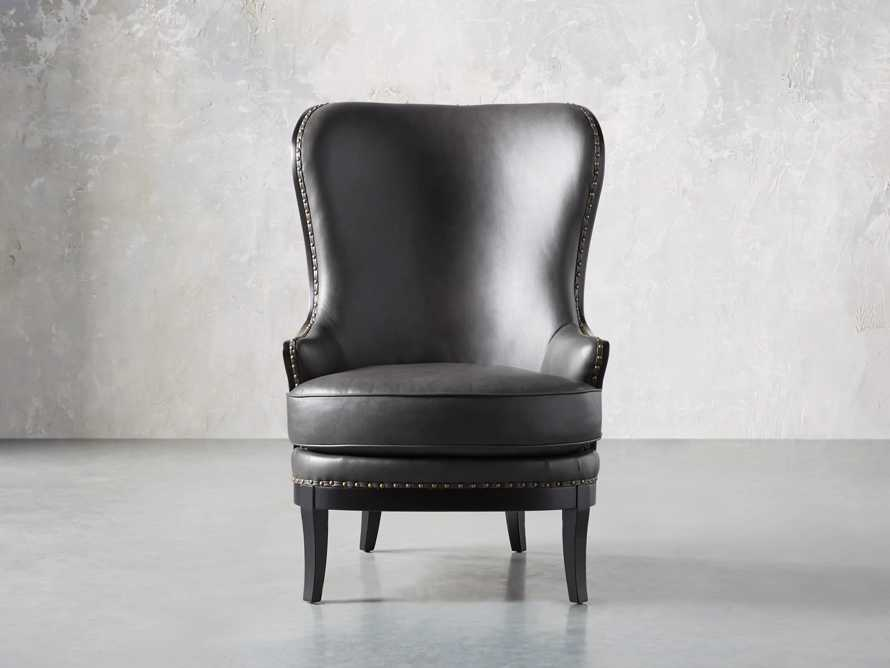 "Portsmouth Leather 32"" Chair, slide 3 of 12"