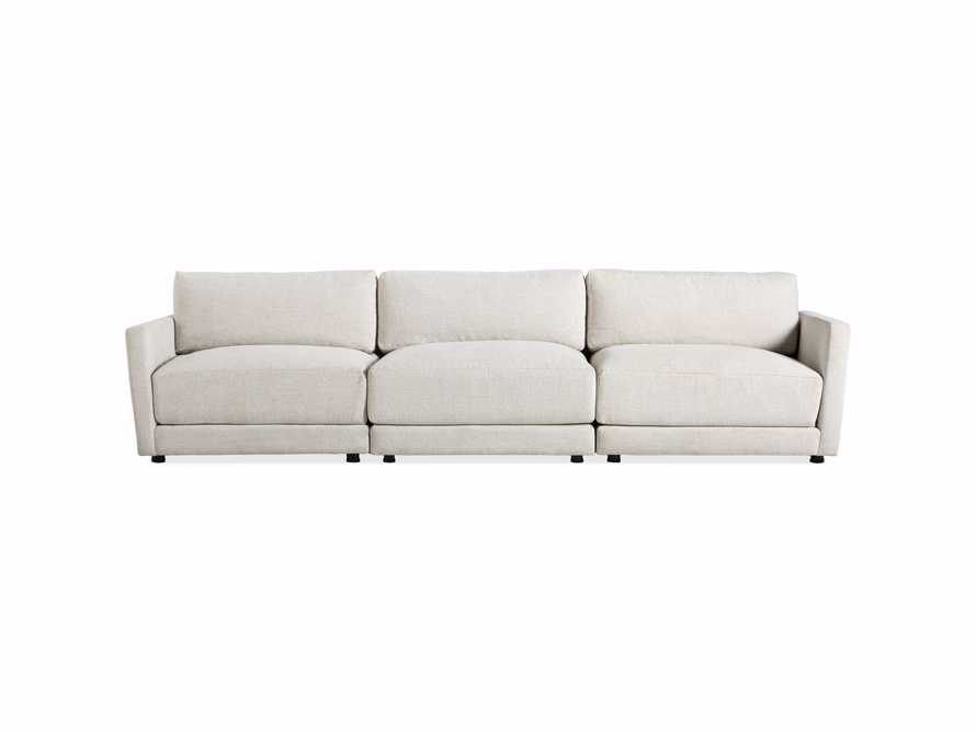 "Sarno Upholstered 128"" Modular Three Piece Sofa"