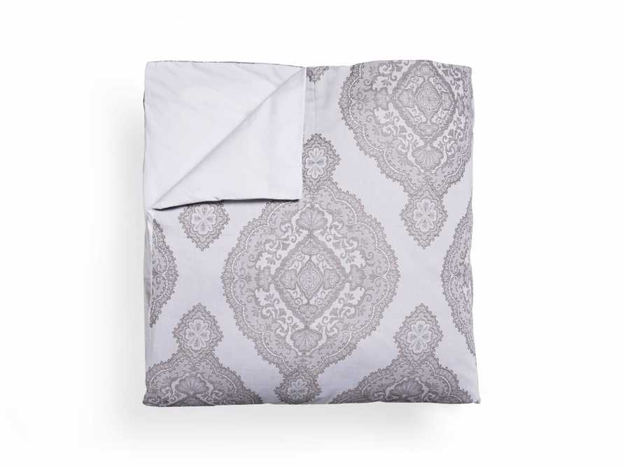 Silver Capri Queen Duvet Cover