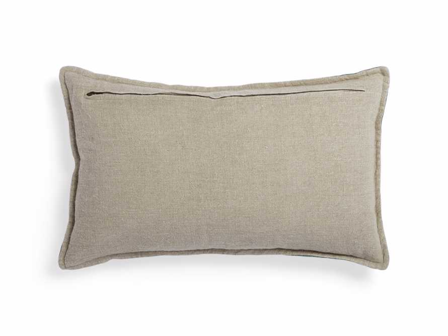 Stone Washed Velvet Lumbar Pillow in Jade, slide 3 of 5