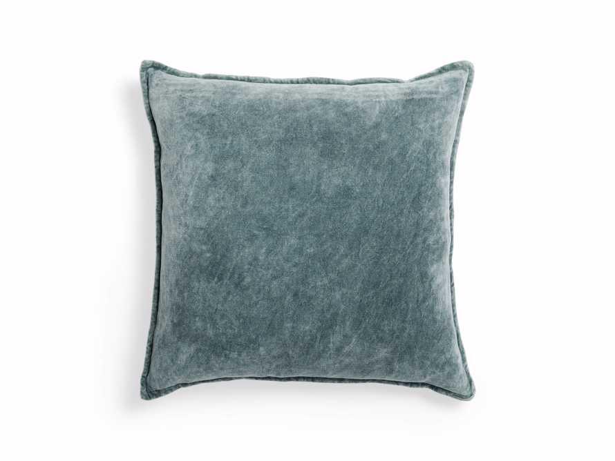Stone Washed Velvet Square Pillow in Jade, slide 3 of 6