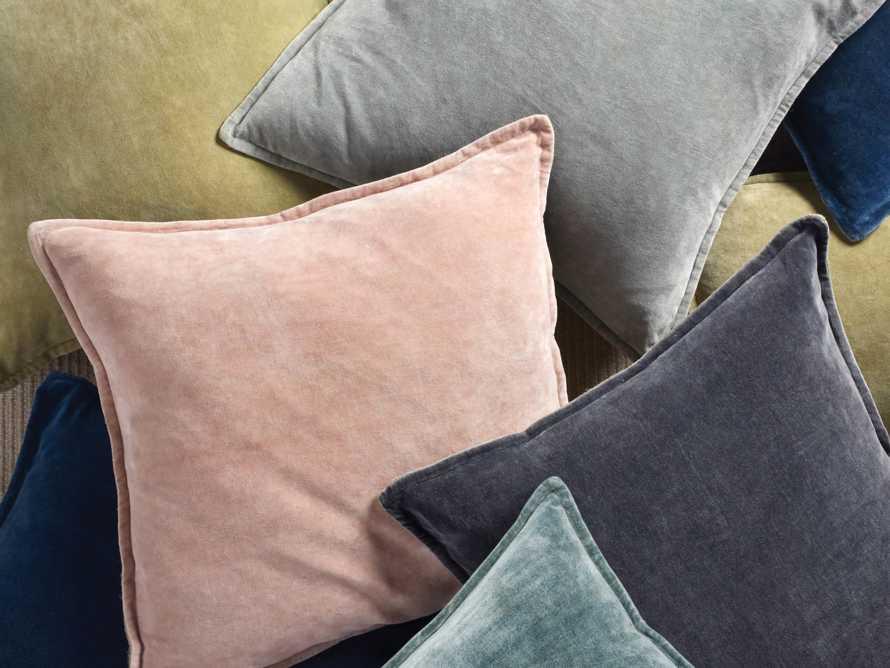 Stone Washed Velvet Square Pillow in Jade, slide 6 of 6