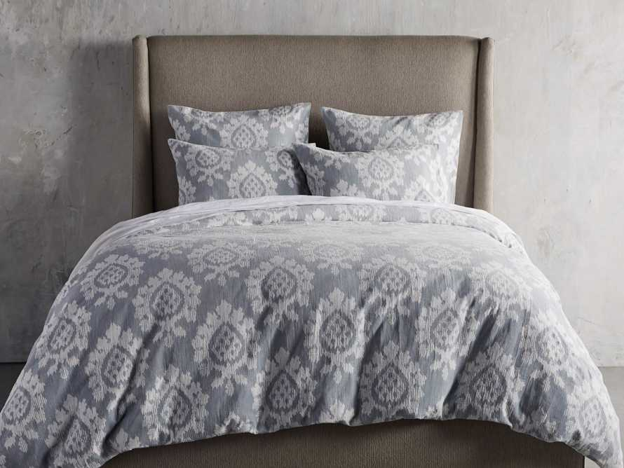 Suzanni Jacquard Queen Duvet Cover, slide 1 of 6