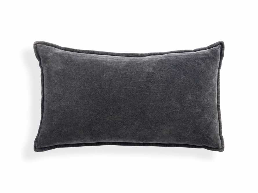 Stone Washed Velvet Lumbar in Charcoal Cover Only
