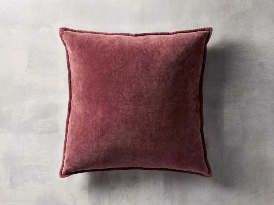 Stone Washed Velvet Square in Wine Cover Only