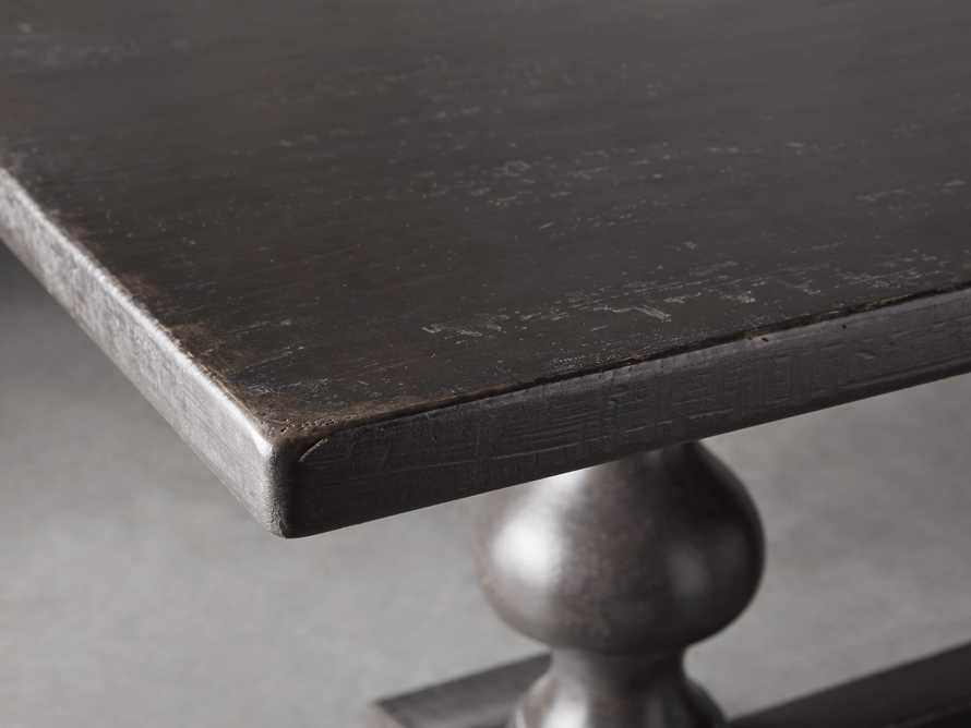 """Tuscany 118"""" X 44"""" Extension Trestle Dining Table In Worn Black"""