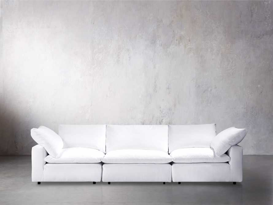 "Tahoe Slipcovered 135"" Three Piece Sectional"