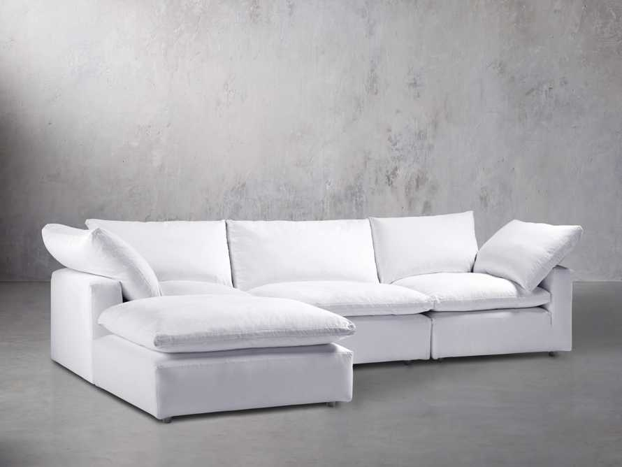 "Tahoe Slipcovered 135"" Four Piece Sectional"