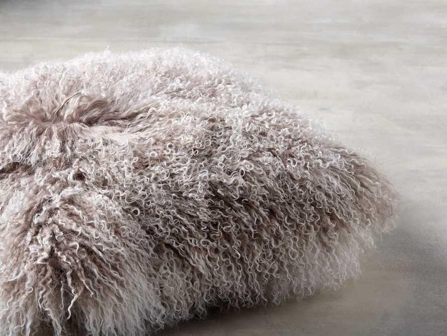 """Tibetan 16"""" Square Longwool Pillow in Frost"""