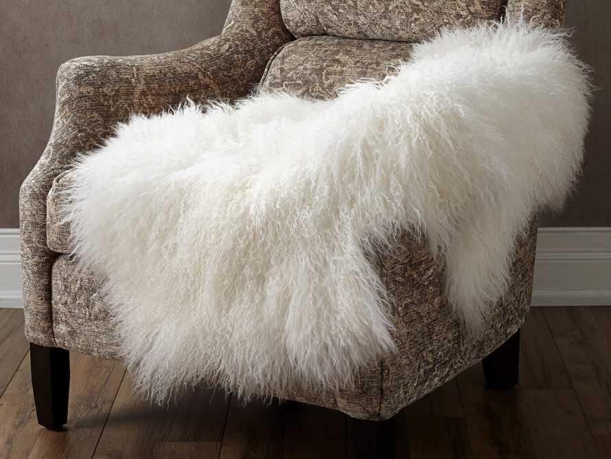 Ivory Tibetan Wool Throw, slide 1 of 4