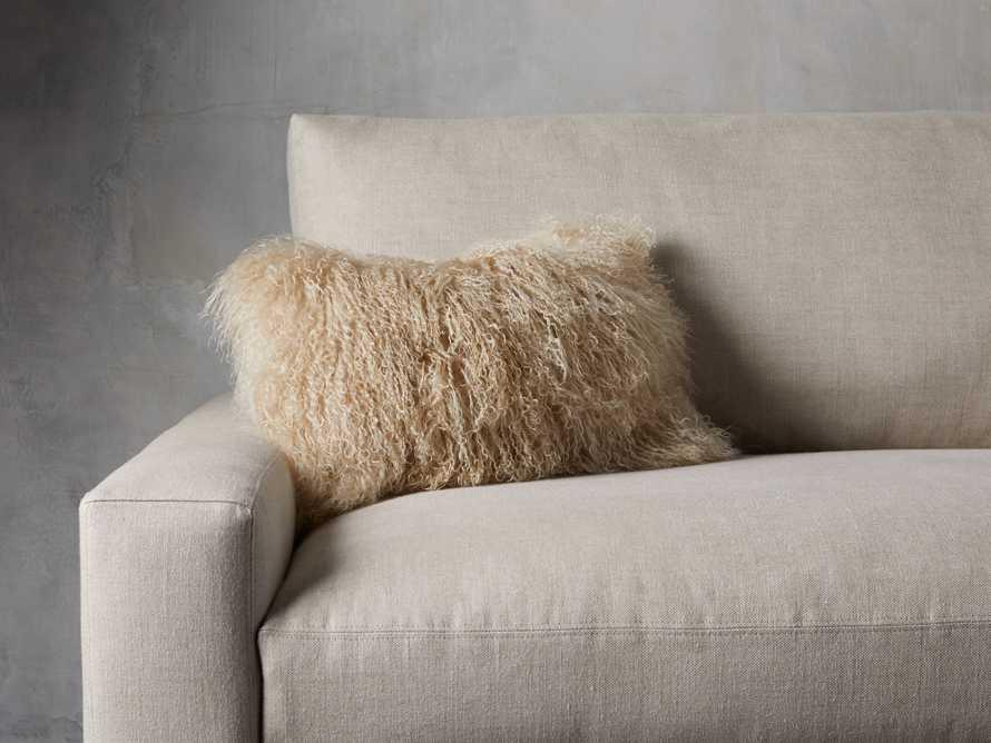 "Tibetan Longwool 20"" Lumbar Pillow in Sand, slide 1 of 5"