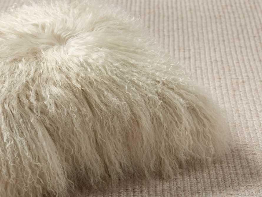 "Tibetan Longwool 20"" Lumbar Pillow in Sand, slide 2 of 5"