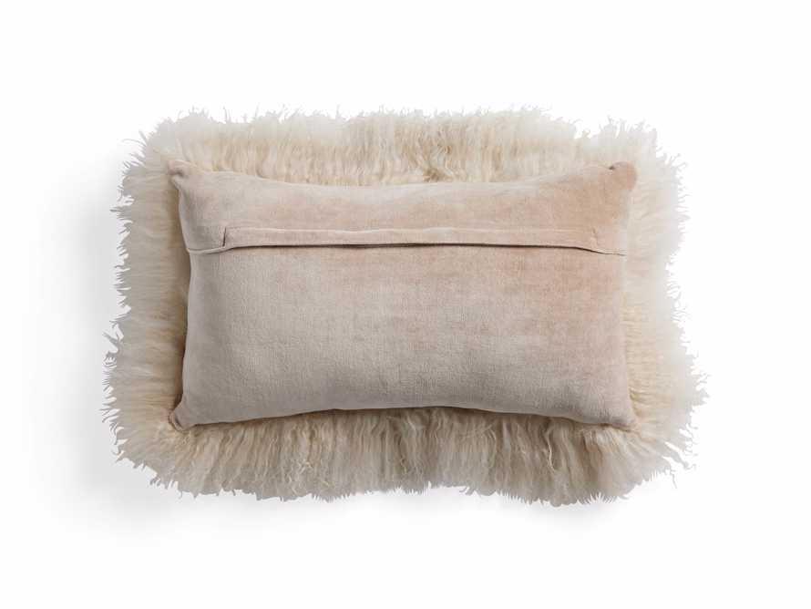 "Tibetan Longwool 20"" Lumbar Pillow in Sand, slide 3 of 5"