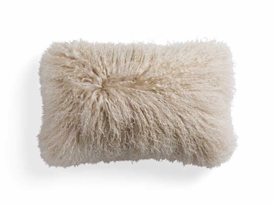 "Tibetan Longwool 20"" Lumbar Pillow in Sand, slide 4 of 5"