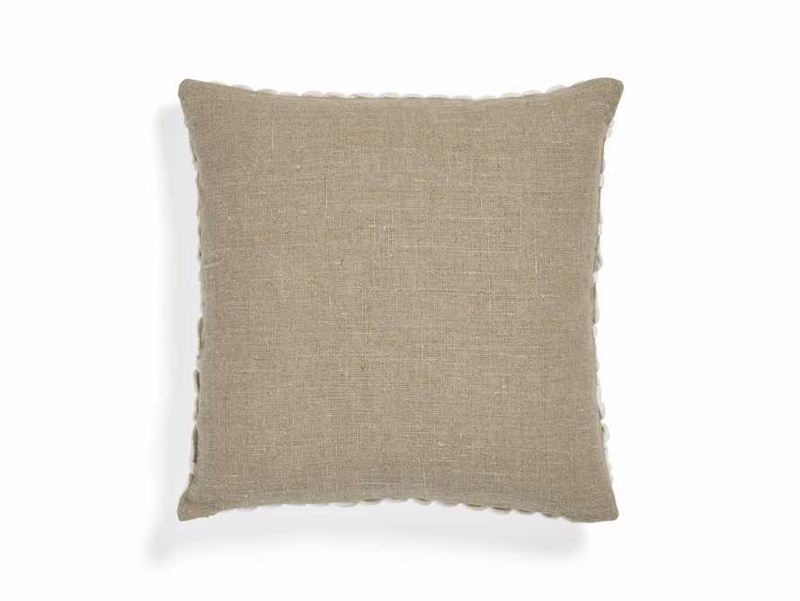 Ivory Velvet Loop Linen Pillow, slide 2 of 4