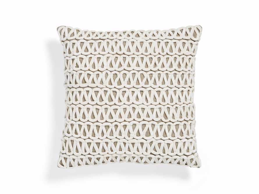 Ivory Velvet Loop Linen Pillow, slide 4 of 4