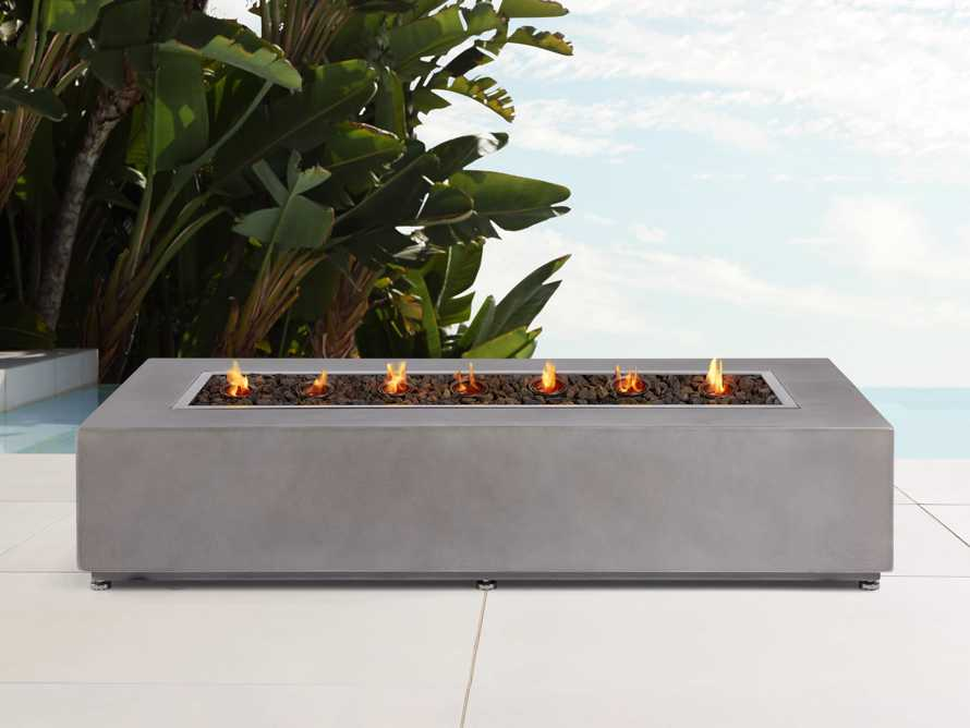 "Fire Tables Outdoor 53"" Rectangle Concrete Fire Table Cover, slide 3 of 3"