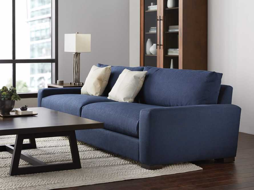 "Remington Deep 108"" Upholstered Sofa (2/2) in Chalet Indigo, slide 2 of 9"