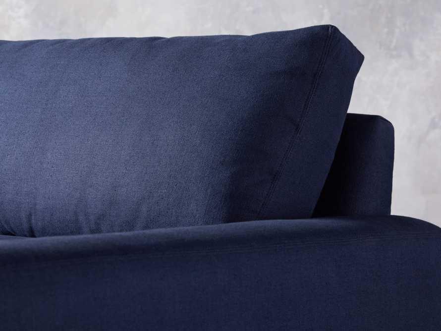 "Remington Deep 108"" Upholstered Sofa (2/2) in Chalet Indigo, slide 7 of 9"