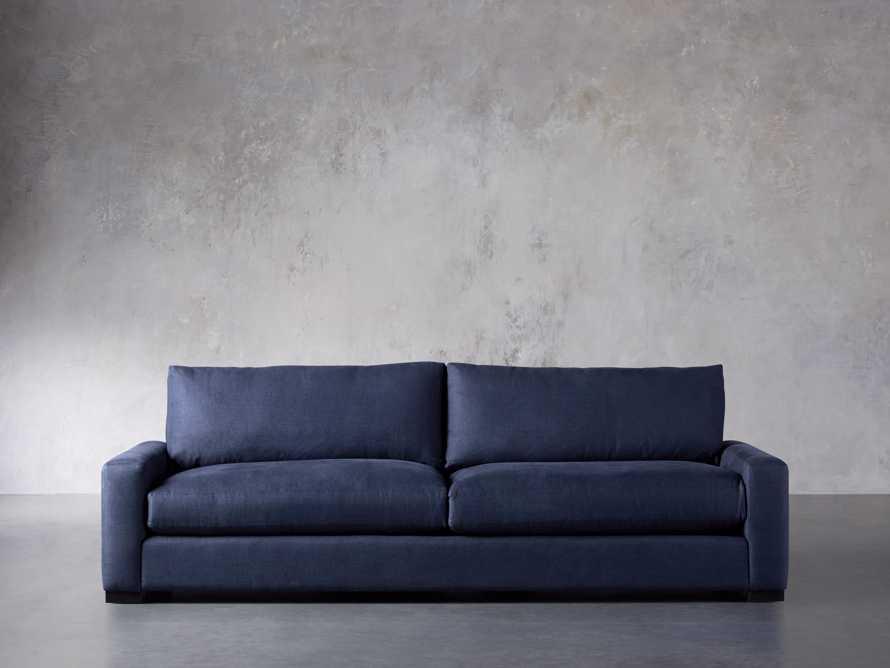 "Remington Deep 108"" Upholstered Sofa (2/2) in Chalet Indigo, slide 3 of 9"
