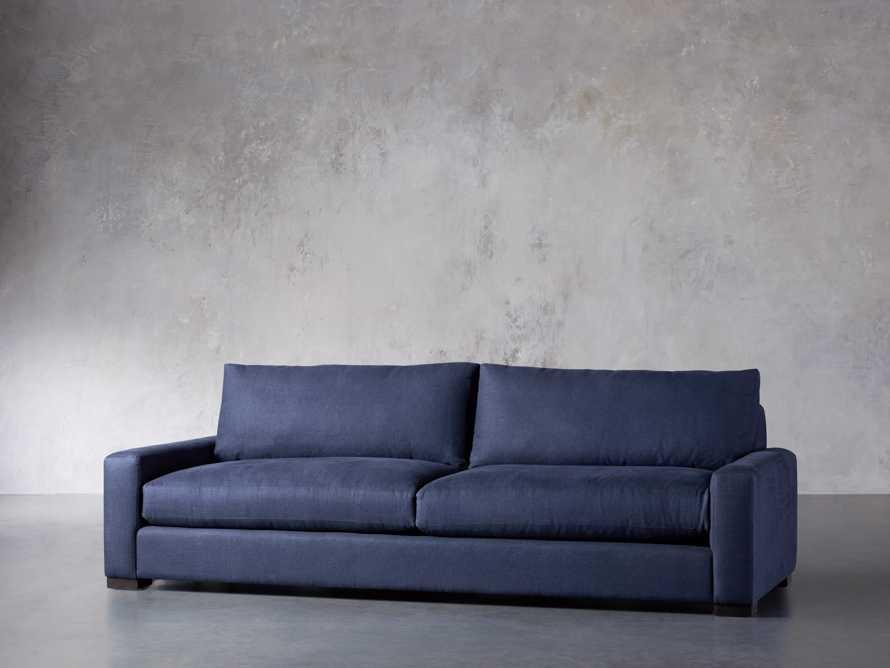 "Remington Deep 108"" Upholstered Sofa (2/2) in Chalet Indigo, slide 4 of 9"