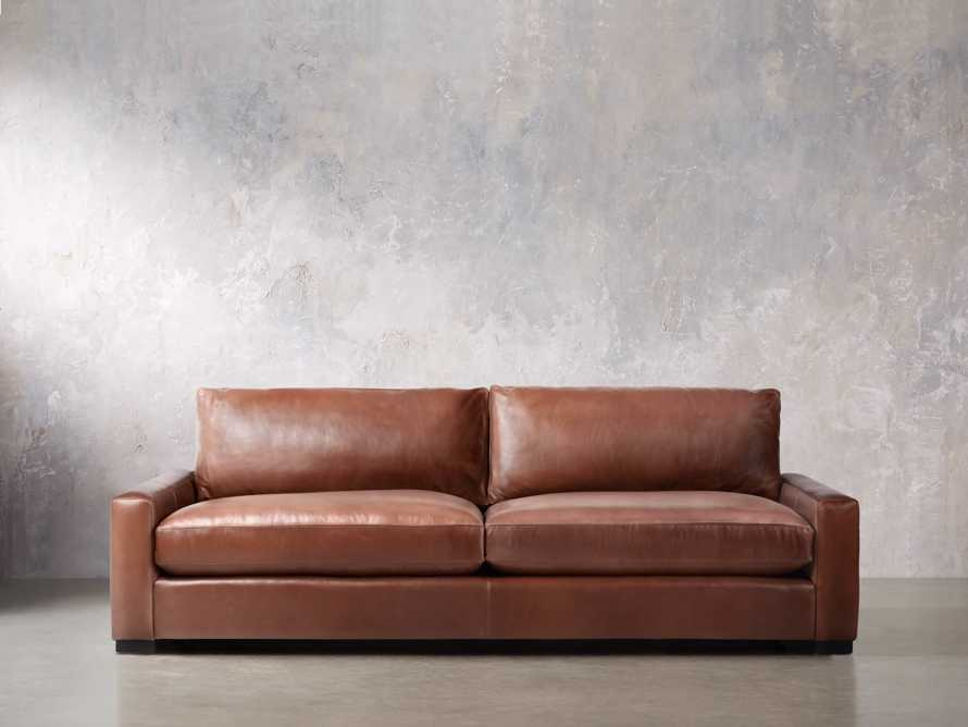 "Remington Deep Leather 108"" Sofa, slide 2 of 8"