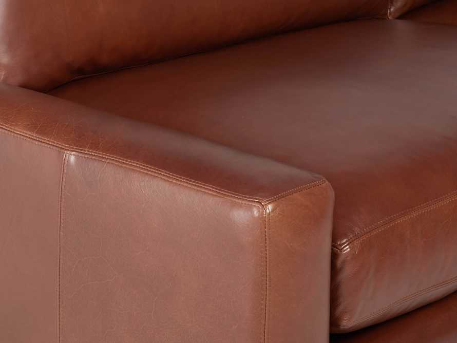 "Remington Deep Leather 108"" Sofa, slide 6 of 8"