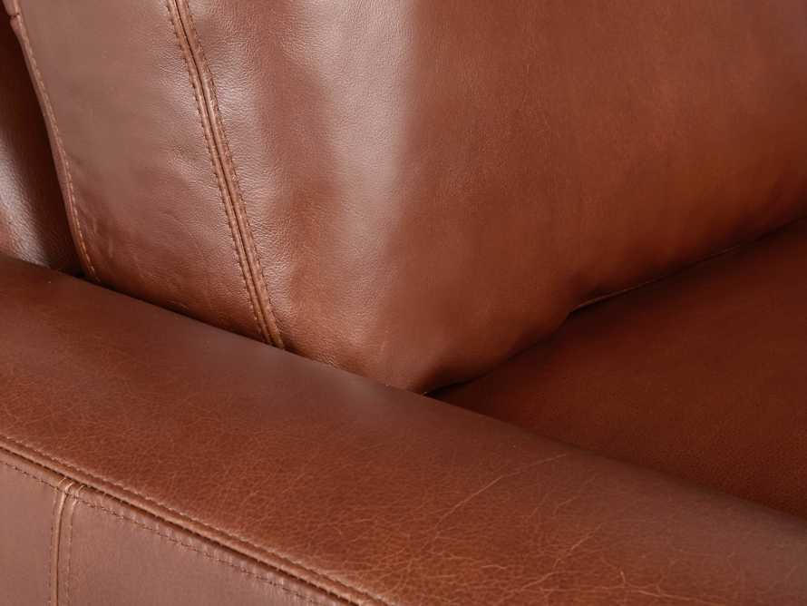 "Remington Deep Leather 108"" Sofa, slide 8 of 8"