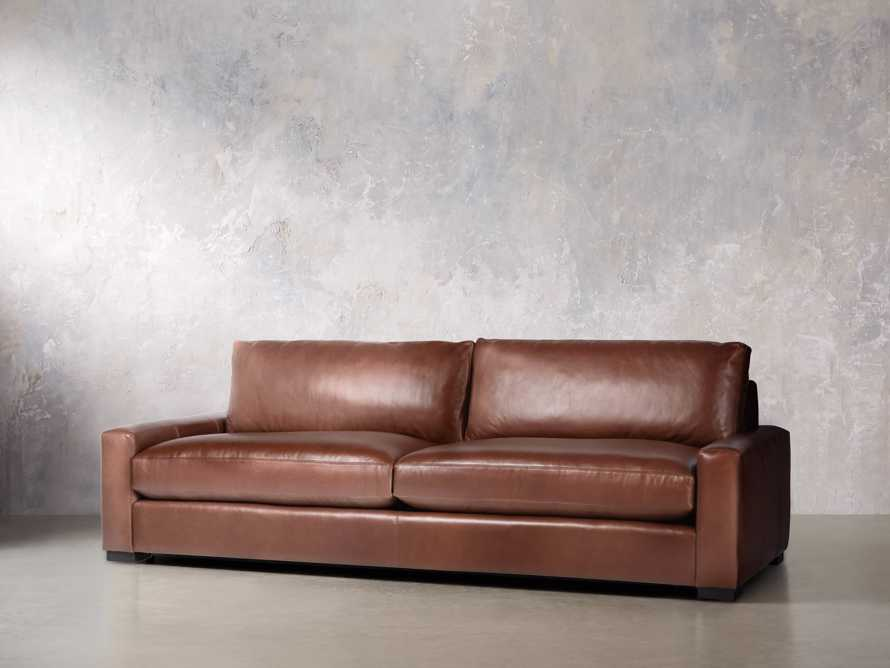"Remington Deep Leather 108"" Sofa, slide 3 of 8"