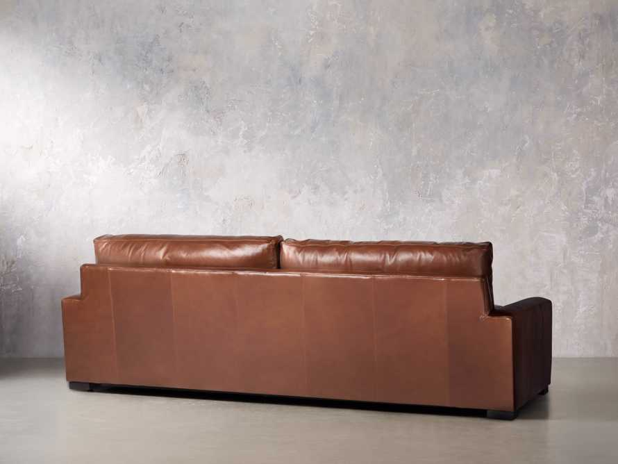 "Remington Deep Leather 108"" Sofa, slide 5 of 8"