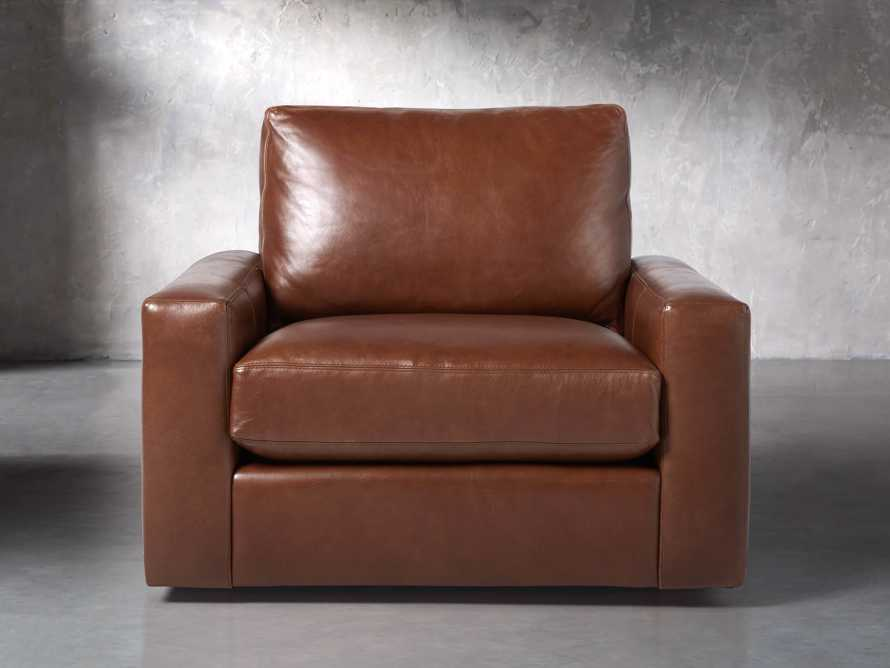 "Remington Petite Leather 42"" Swivel Chair, slide 2 of 8"