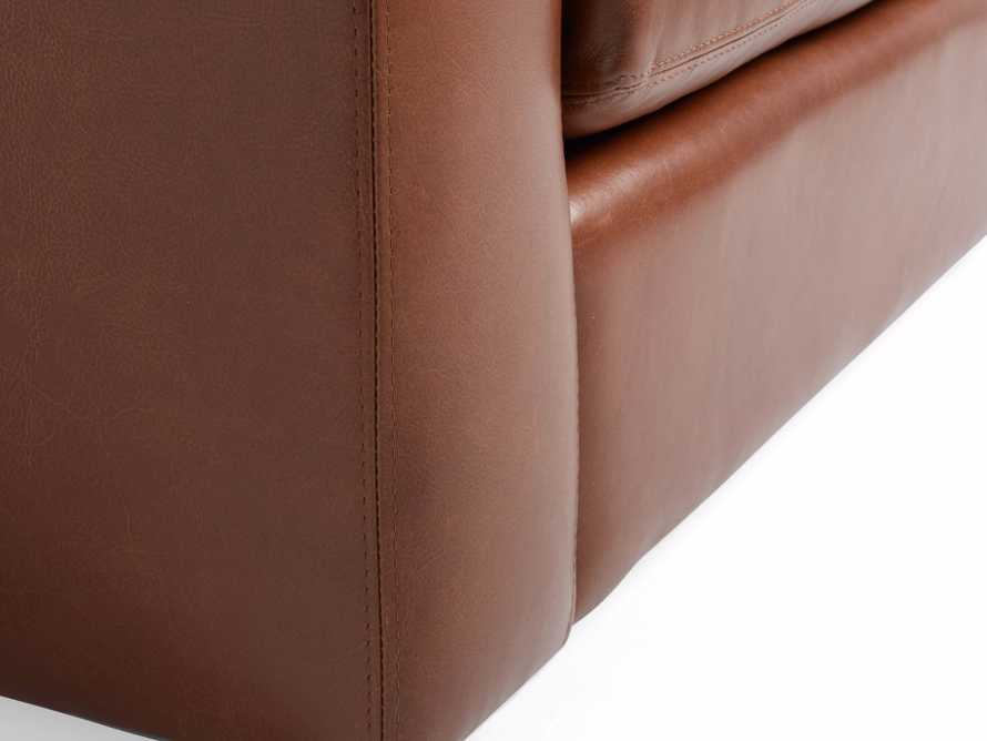 "Remington Petite Leather 42"" Swivel Chair"