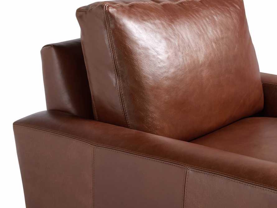 "Remington Petite Leather 42"" Swivel Chair, slide 7 of 8"