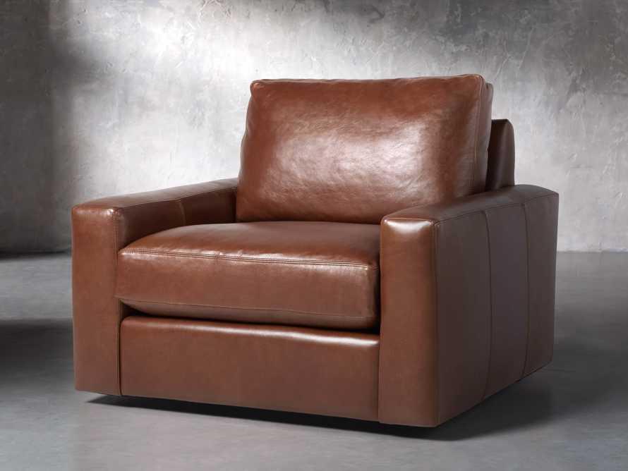 "Remington Petite Leather 42"" Swivel Chair, slide 3 of 8"