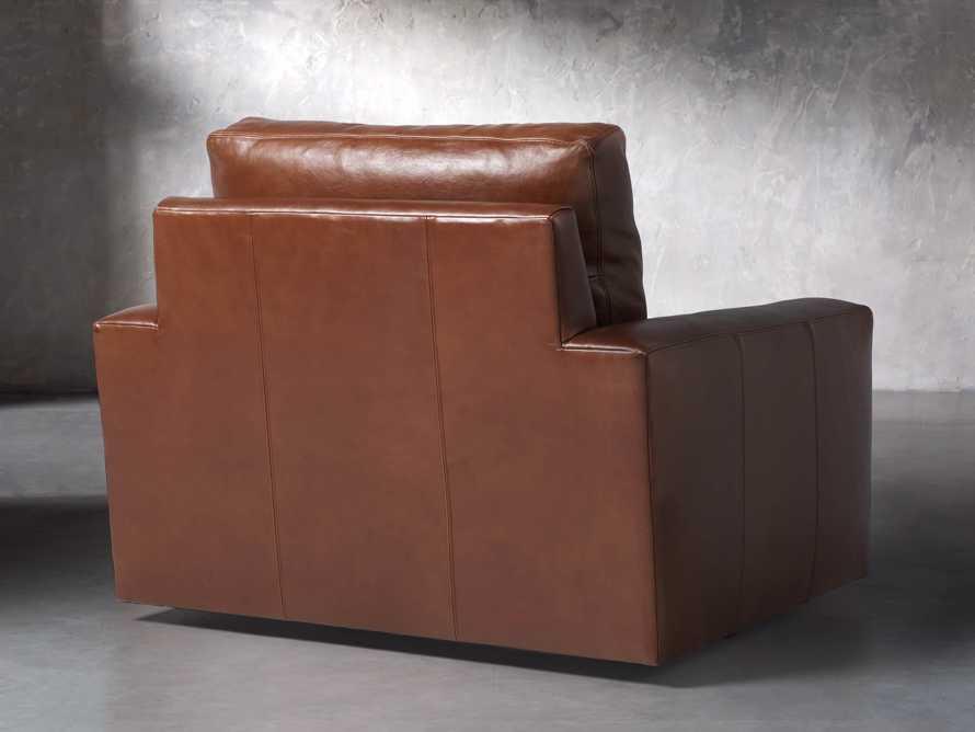"Remington Petite Leather 42"" Swivel Chair, slide 5 of 8"