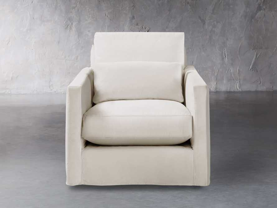 "Pollack 37"" Slipcovered Swivel Chair, slide 2 of 6"