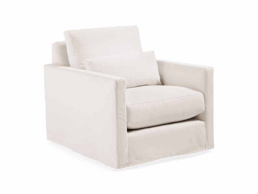 "Pollack 37"" Slipcovered Swivel Chair, slide 3 of 6"