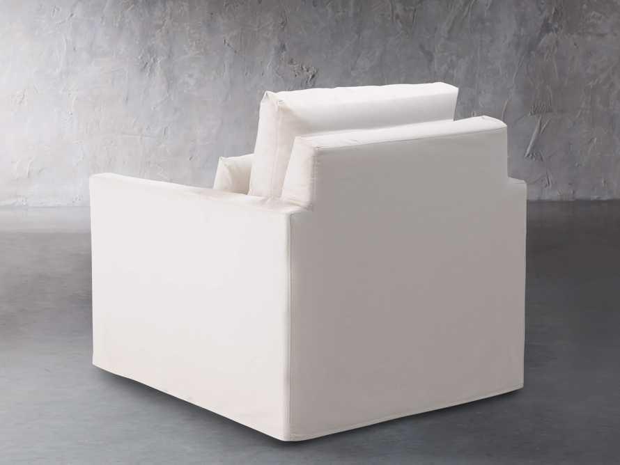 """Pollack 37"""" Slipcovered Swivel Chair, slide 5 of 8"""