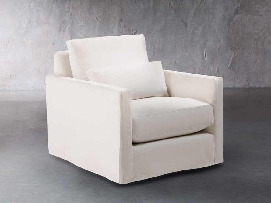 """Pollack 37"""" Slipcovered Swivel Chair, slide 3 of 8"""