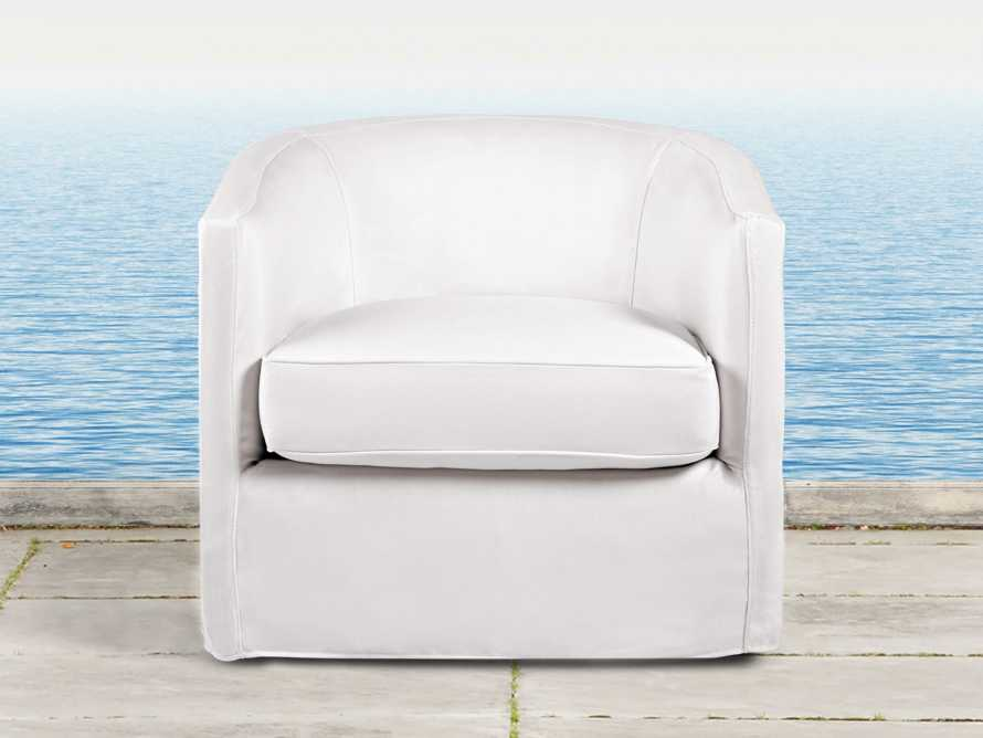 "Costa Rei Outdoor 34"" Slipcovered Swivel Chair"