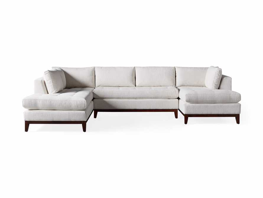 "Bryden Upholstered 136"" Left Arm Three Piece Daybed Sectional, slide 6 of 6"